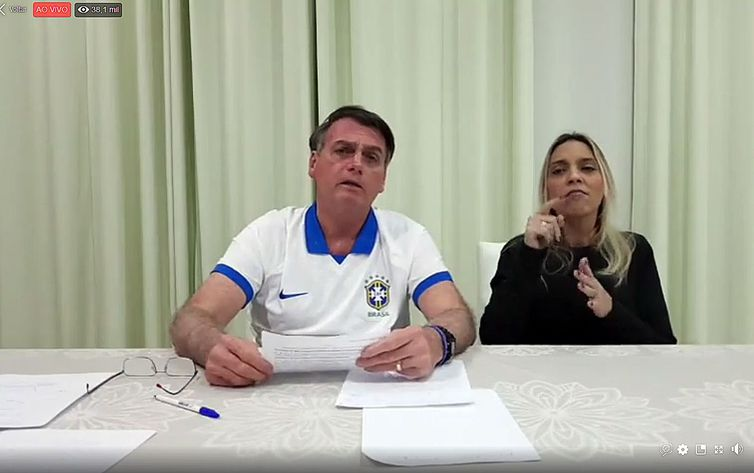 live semanal do presidente Jair Messias Bolsonaro_18.04.2019