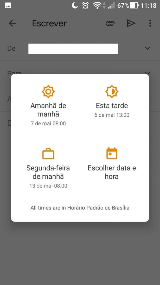 Gmail | Como programar antecipadamente o envio de mensagens - 5