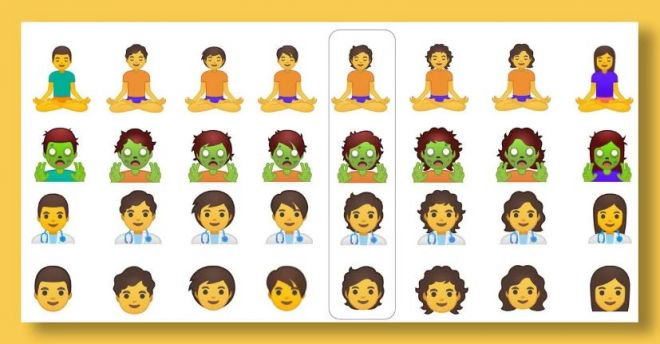 Google vai liberar coleção com 53 emojis de gênero neutro - 2