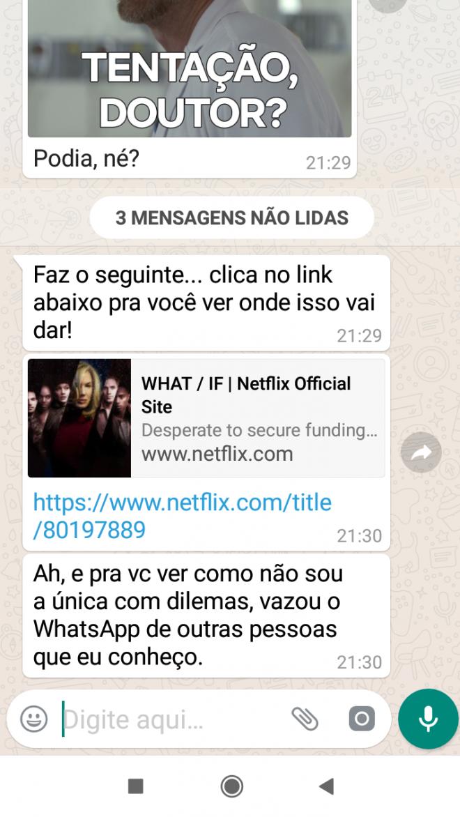 Netflix usa bots para divulgar sua nova série dramática no WhatsApp - 3