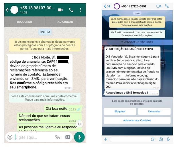 """Novo golpe """"rouba"""" WhatsApp de quem anunciou algum produto na internet - 2"""