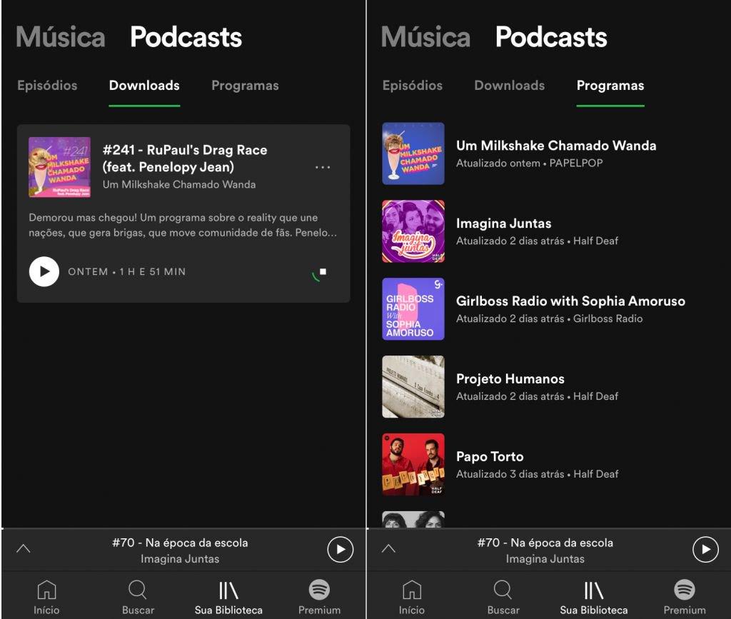 Spotify altera layout do aplicativo para dar destaque a Podcasts - 3