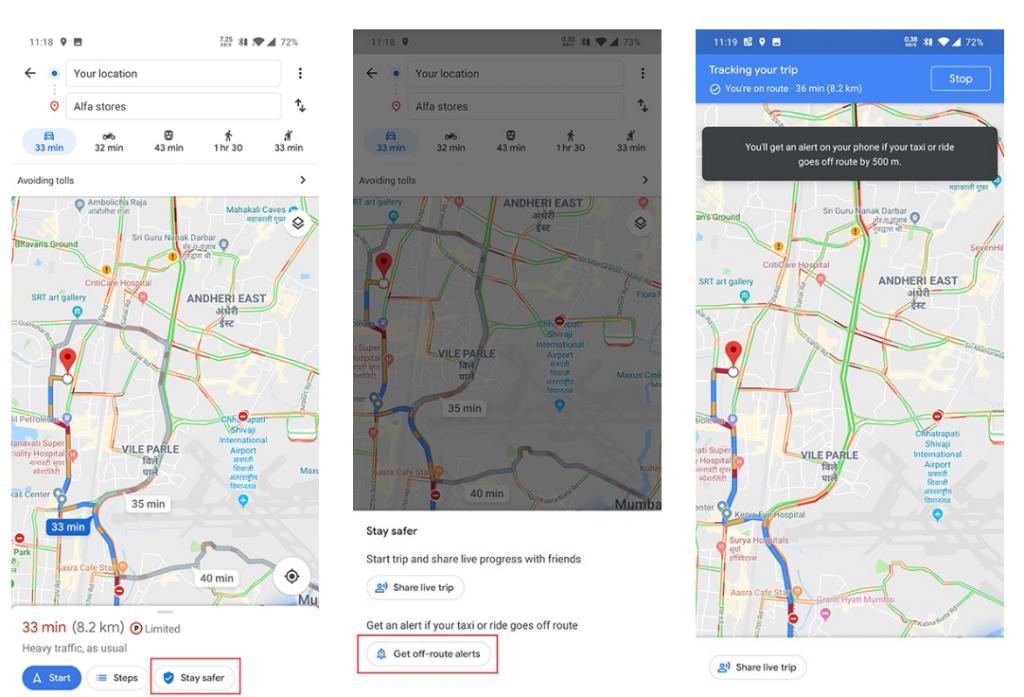 Google Maps ganha notificação sobre desvio de rota em táxi e similares - 2