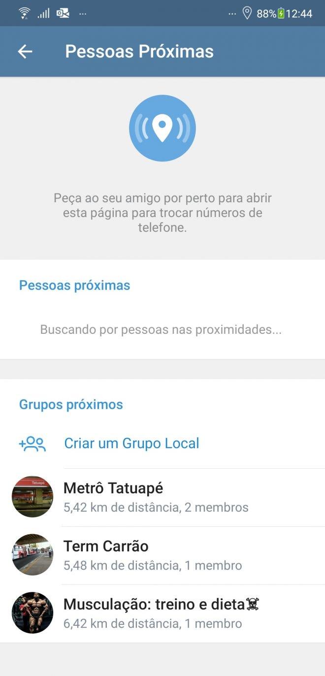 Telegram permite adicionar pessoas e entrar em grupos apenas usando localização - 3