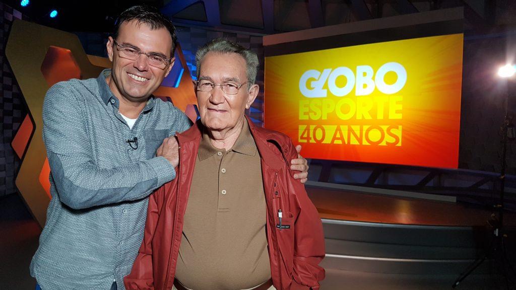 Tino Marcos e Léo Batista nos 40 anos do Globo Esporte