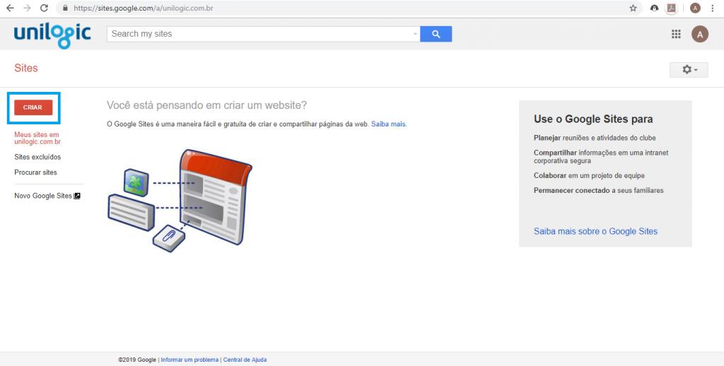 Aprenda como criar um site gratuitamente com o Google Sites - 2