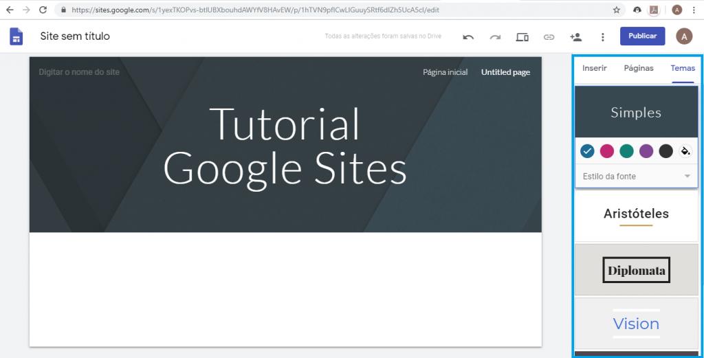 Aprenda como criar um site gratuitamente com o Google Sites - 6