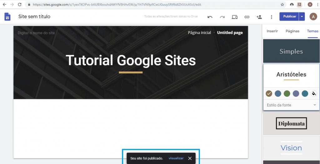 Aprenda como criar um site gratuitamente com o Google Sites - 8