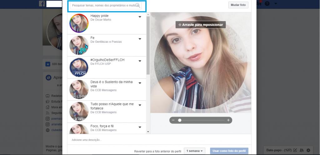 Como colocar temas nas suas fotos de perfil do Facebook - 3
