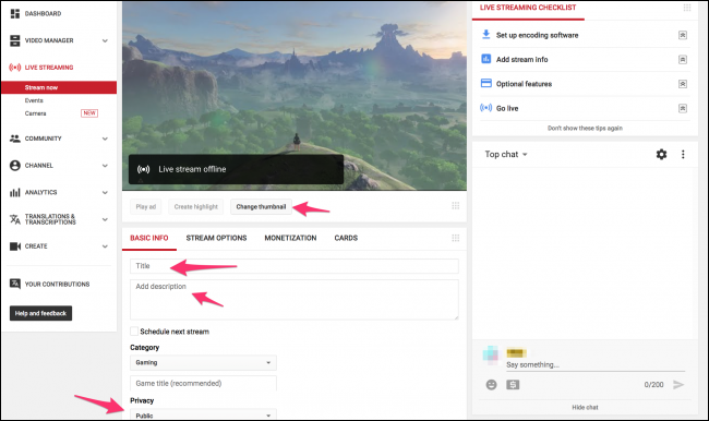 Como fazer streaming de games no YouTube - 5