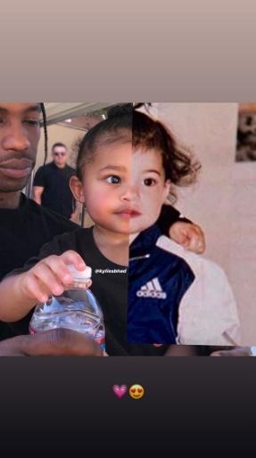 Kylie Jenner compara foto de infância com a da filha; veja - 1
