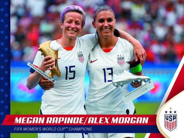 Panini lança de forma limitada cards comemorativos do título dos EUA na Copa Feminina - 2