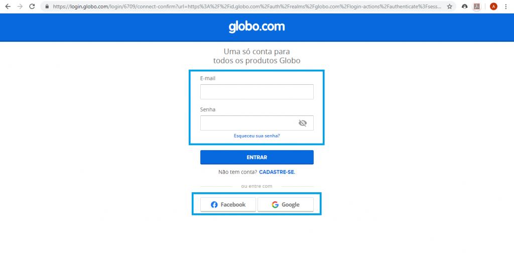 Como assistir a TV Globo online através do Globoplay - 2