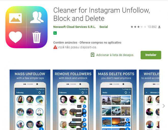 Como deixar de seguir várias pessoas ao mesmo tempo com o Cleaner for Instagram - 3