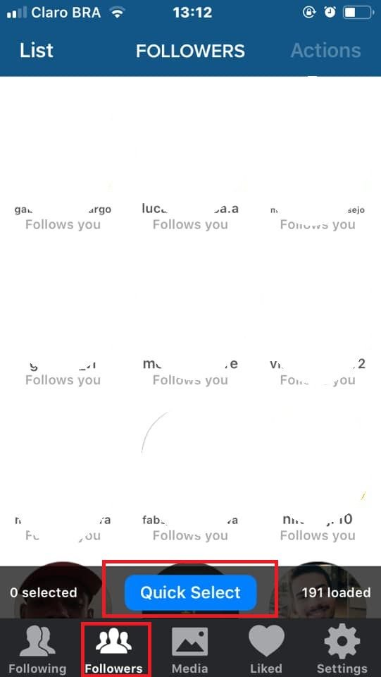 Como deixar de seguir várias pessoas ao mesmo tempo com o Cleaner for Instagram - 6