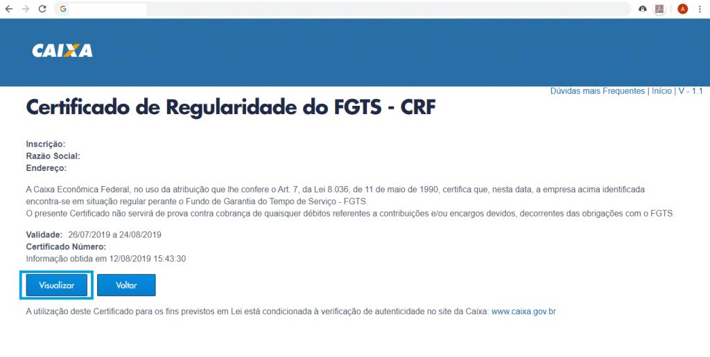 Como tirar o CRF do FGTS online - 6
