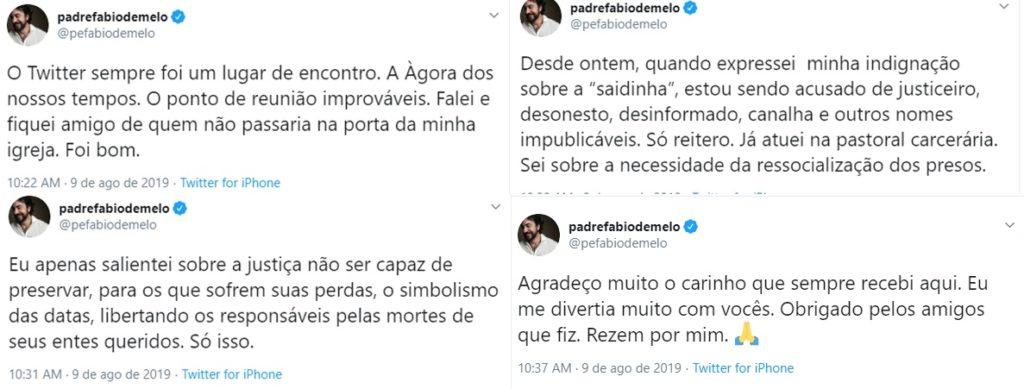 """Padre Fábio de Melo deixa o Twitter: """"Tenho uma saúde emocional a ser cuidada"""" - 2"""