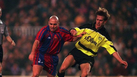 FUSSBALL: SUPER CUP 97/98 FC BARCELONA