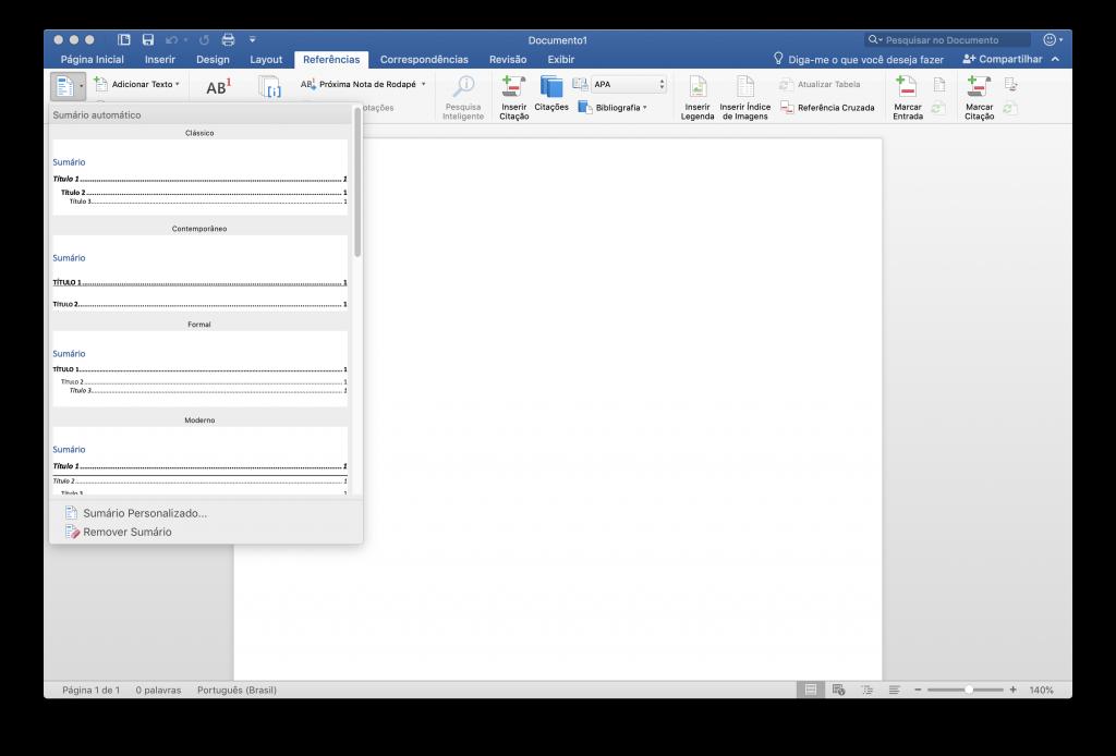 Como fazer um sumário automático no Word - 2