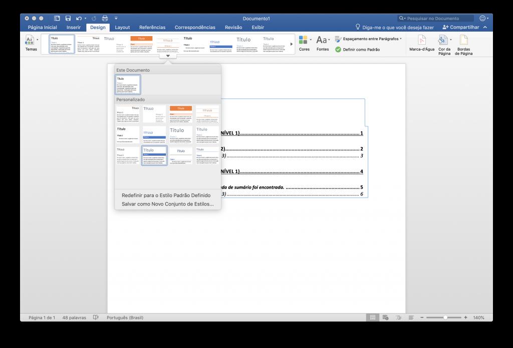 Como fazer um sumário automático no Word - 3