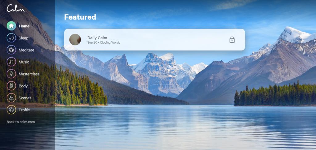 Conheça o Calm, aplicativo que permite ouvir música para relaxar e meditar - 6