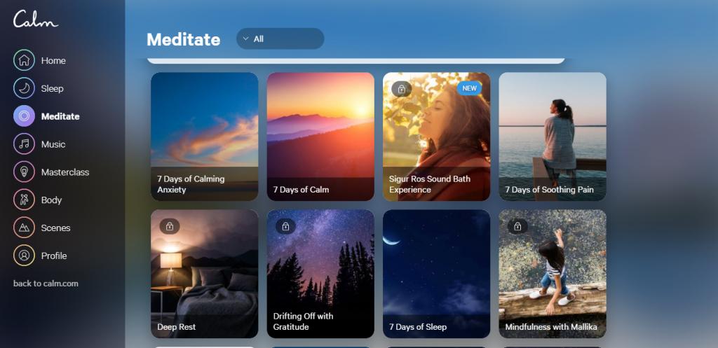 Conheça o Calm, aplicativo que permite ouvir música para relaxar e meditar - 8
