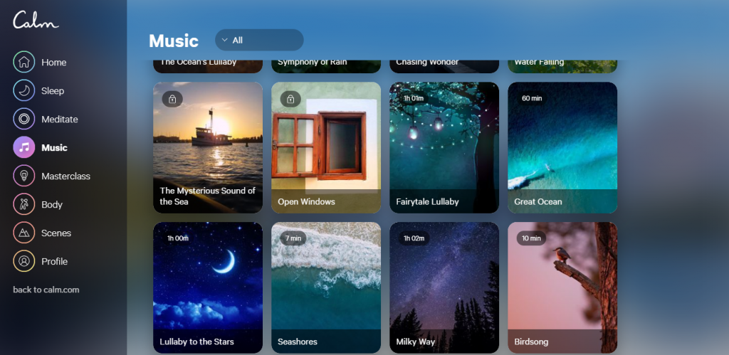 Conheça o Calm, aplicativo que permite ouvir música para relaxar e meditar - 9
