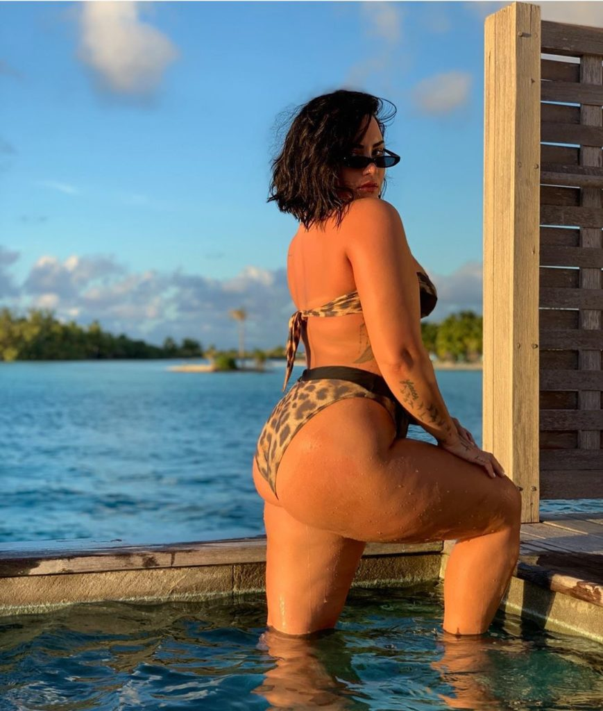 Demi Lovato posa de biquíni e expõe celulites em clique sem photoshop - 1