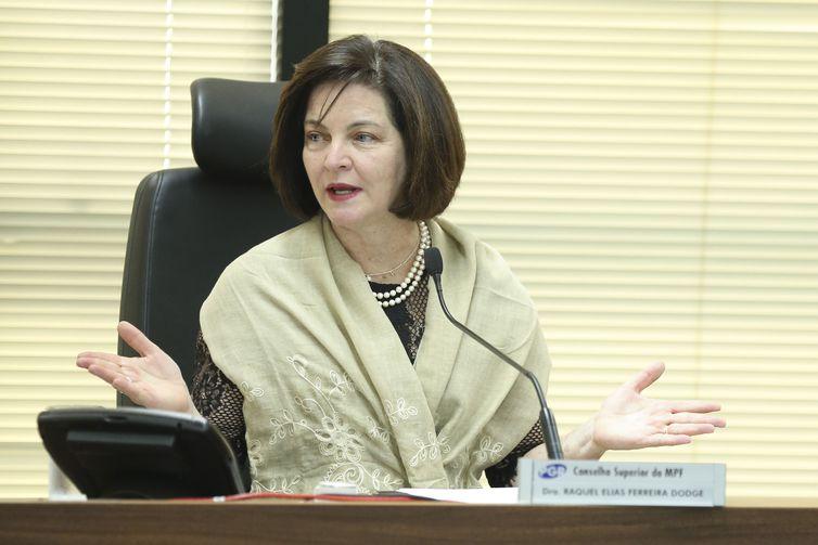 A procuradora-geral da República, Raquel Dodge, participa da posse dos novos membros do Conselho Superior do Ministério Público Federal
