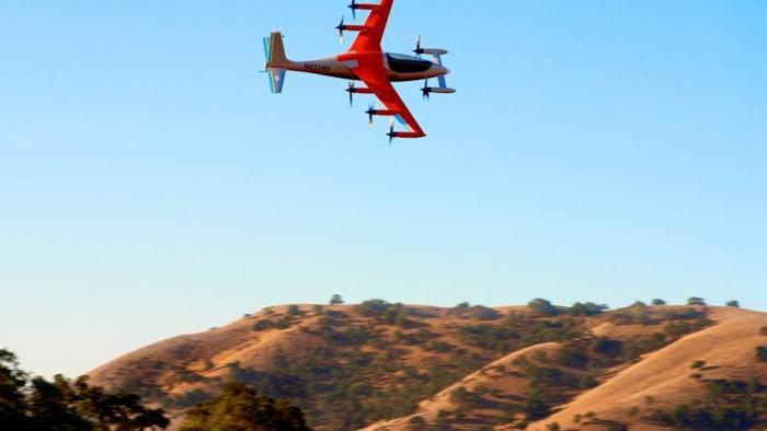 Aeronave elétrica do criador do Google voa praticamente sem barulho - 1