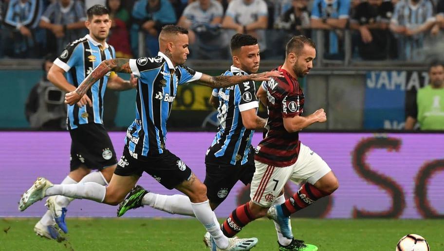Em jogo marcado por gols anulados, Grêmio e Flamengo ficam no empate na Arena - 1