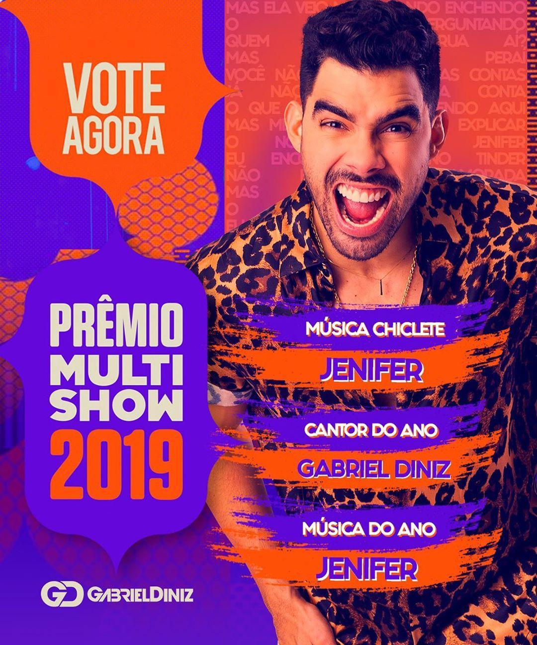 Fãs de Gabriel Diniz fazem campanha para cantor vencer Prêmio Multishow - 2