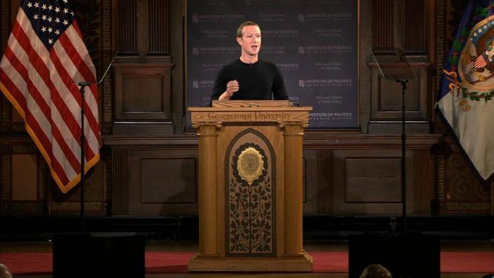 Mark Zuckerberg faz discurso em universidade e defende a liberdade de expressão - 1