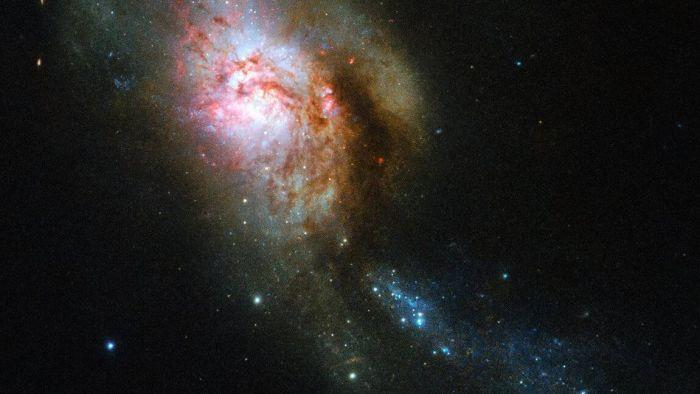 Medusa espacial: Hubble captura imagem incrível de fusão de galáxias - 1