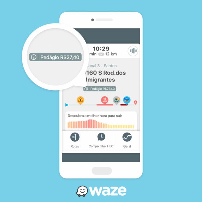 Novo recurso do Waze calcula preços de pedágios no Brasil - 2