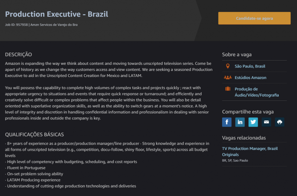 Amazon contrata executivos para criar séries originais no Brasil - 2