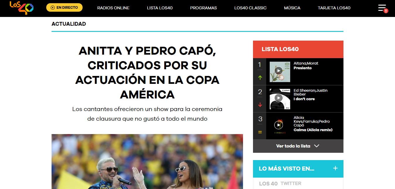 Após ser criticada por playback, Anitta cantará na final da Libertadores - 2