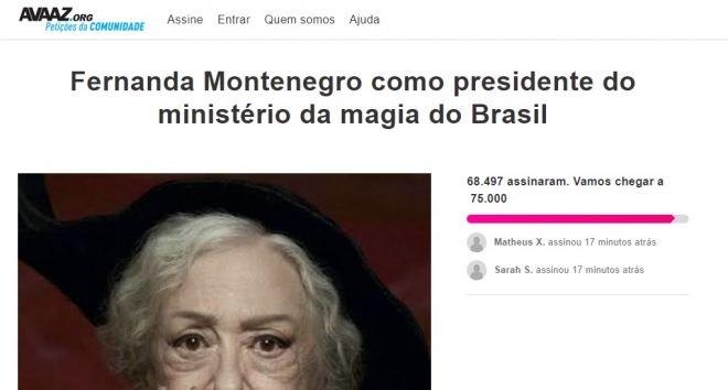 Fãs querem Fernanda Montenegro como Ministra da Magia em Animais Fantásticos 3 - 2