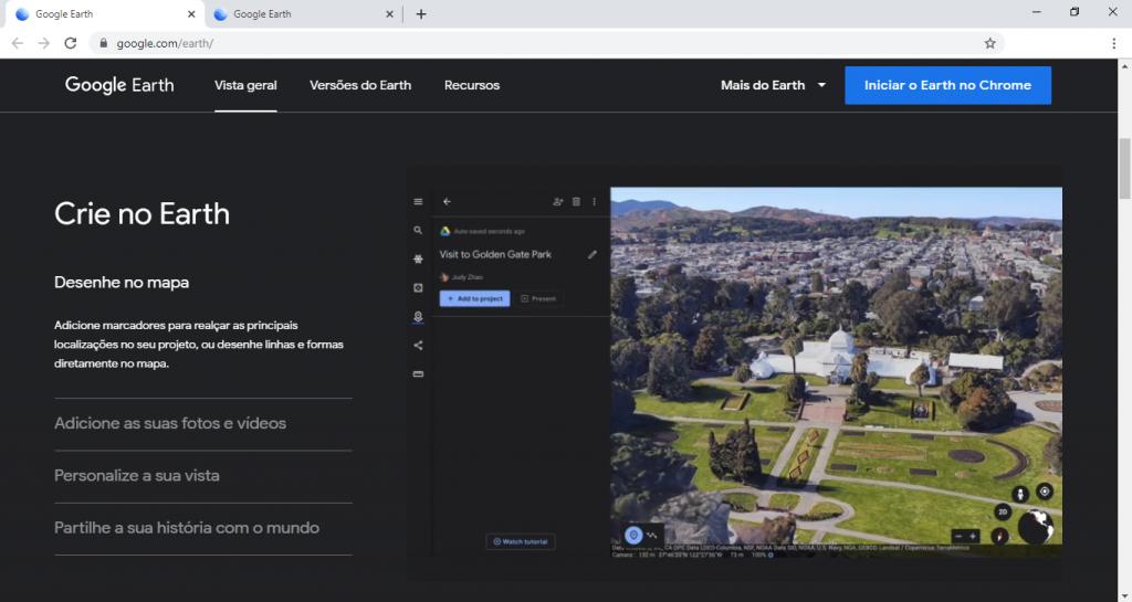 Google Earth lança recurso para usuários criarem seus próprios mapas e histórias - 2