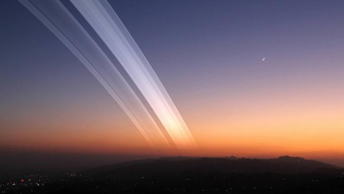 O que veríamos no céu se a Terra tivesse anéis como os de Saturno? - 1