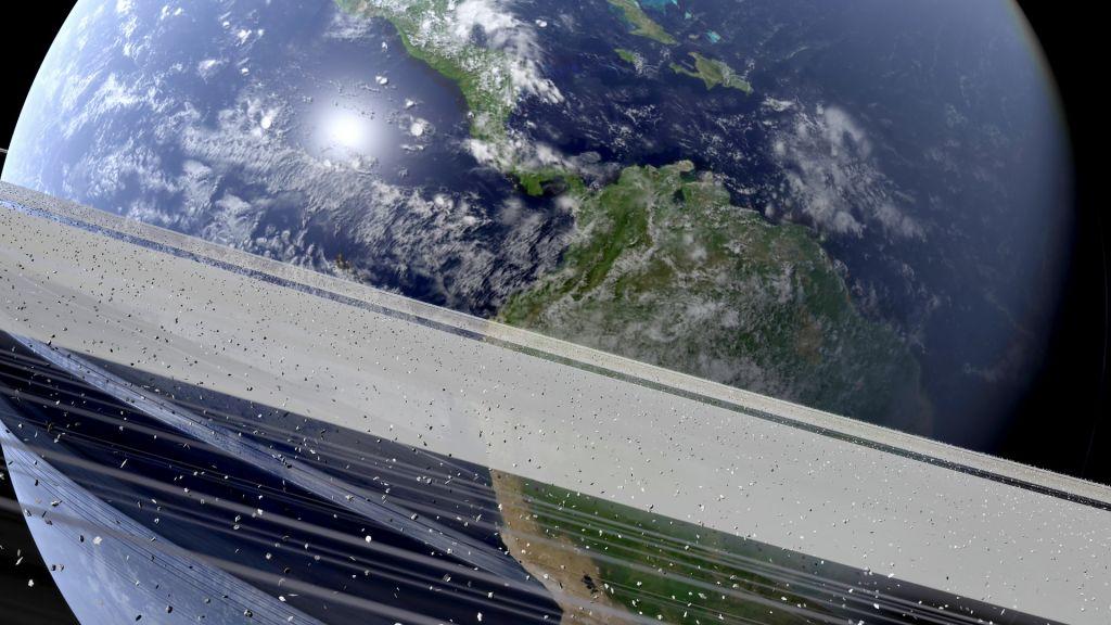 O que veríamos no céu se a Terra tivesse anéis como os de Saturno? - 2