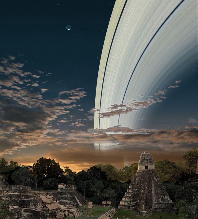 O que veríamos no céu se a Terra tivesse anéis como os de Saturno? - 4