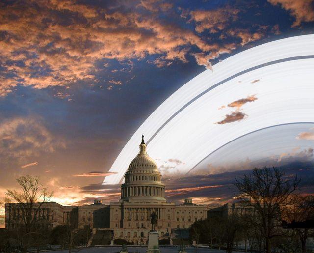O que veríamos no céu se a Terra tivesse anéis como os de Saturno? - 5