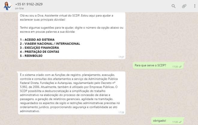 Para reduzir orçamento, Governo inaugura atendimento virtual via WhatsApp - 2