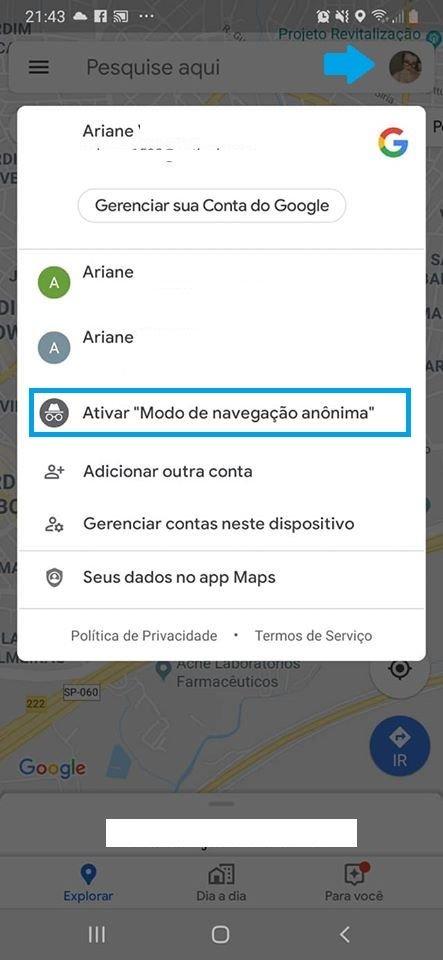 Saiba como ativar a navegação anônima no Google Maps - 2
