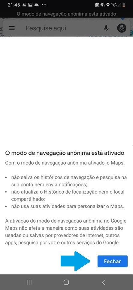 Saiba como ativar a navegação anônima no Google Maps - 3