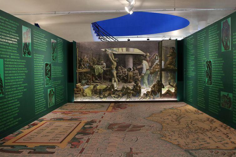 Castro Alves – 150 anos do poema O Navio Negreiro, instalação de Emanoel Araujo é uma das exposições inauguradas pelo Museu Afro Brasil em celebração ao Mês da Consciência Negra, no Parque Ibirapuera.