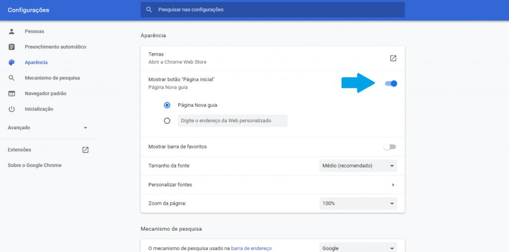 Como personalizar a home do Google Chrome com temas e extensões - 6