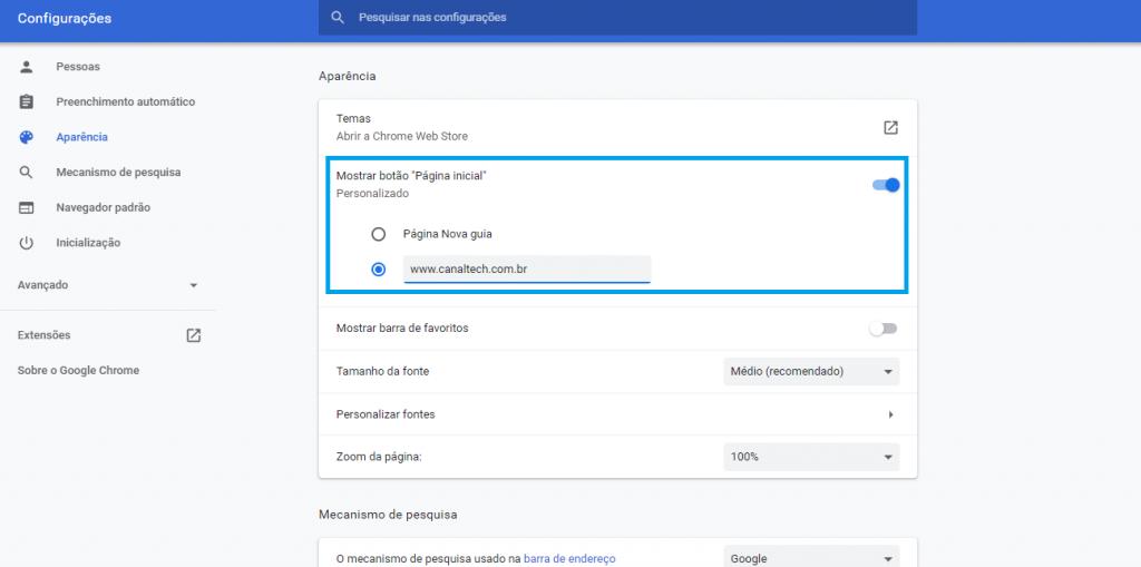 Como personalizar a home do Google Chrome com temas e extensões - 7