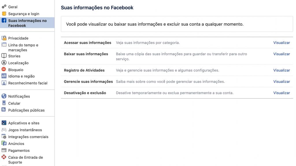 Facebook: como baixar seu histórico de usuário completo - 3